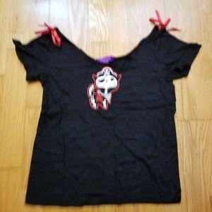 Skelanimals X-ray Pirate Skeleton Cat Punk Shirt